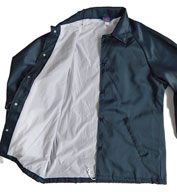 Custom Mens Oxford Flannel Lined Windbreaker Mens
