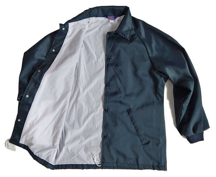 Mens Oxford Flannel Lined Windbreaker