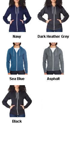 American Apparel Unisex Flex Fleece Full-Zip Hoodie - All Colors