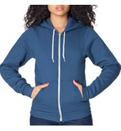 Custom American Apparel Unisex USA Made Flex Fleece Zip Hoodie