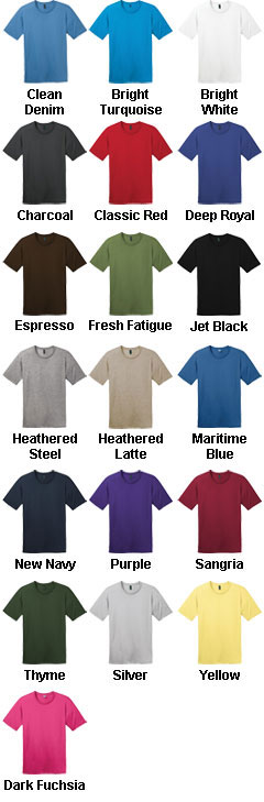District Made® Mens Perfect Weight Crew Tee - All Colors