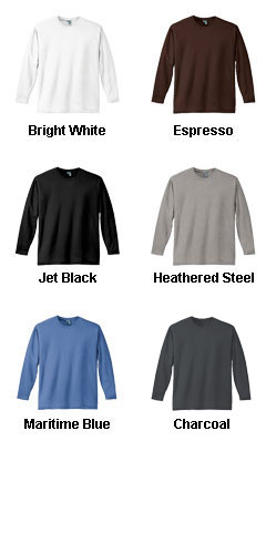 District Made® Mens Perfect Weight Long Sleeve Tee   - All Colors