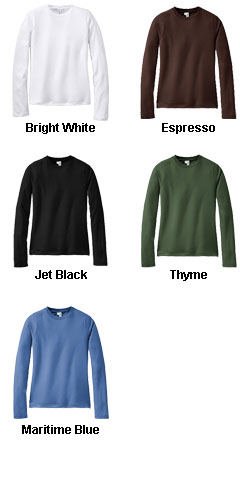 District® - Juniors Perfect Weight Long Sleeve Tee - All Colors