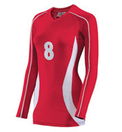 Teamwork Womens Cobra Long Sleeve Volleyball Jersey