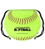 Custom Softball Drawstring Backpack