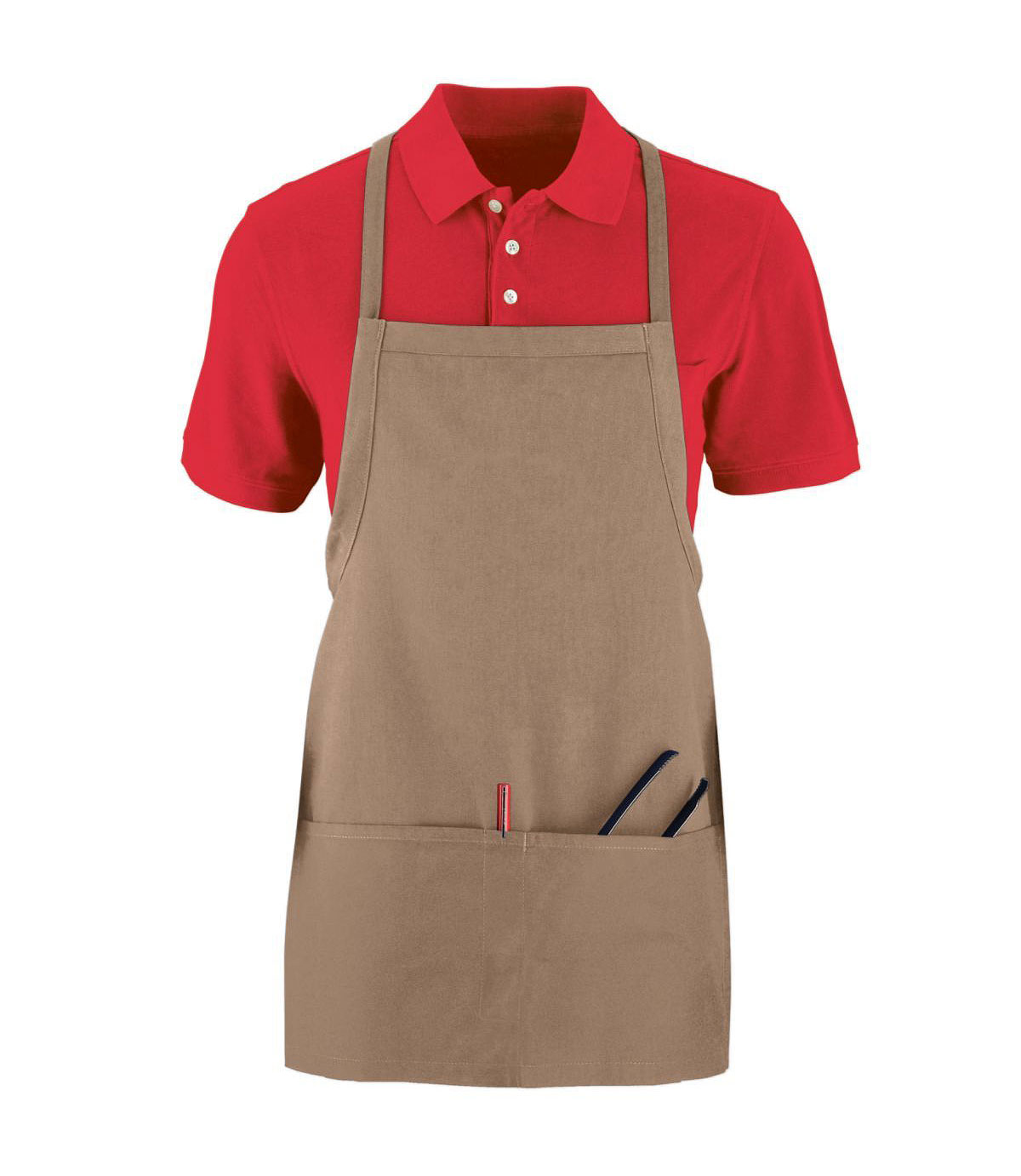 Augusta Short Tavern Apron With Pouch