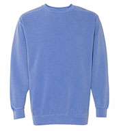 Custom Comfort Colors Mens Garment Dyed Crewneck Sweatshirt