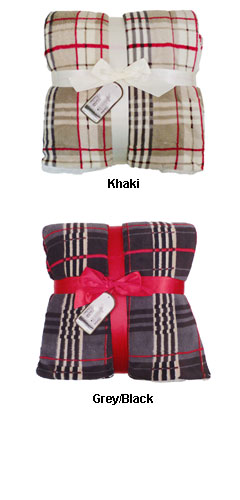 Lambswool Microsherpa Plaid Throw - All Colors