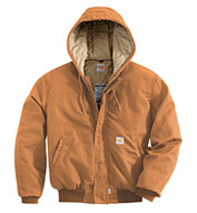 Custom Carhartt Flame Resistant Duck Active Jacket with Quilt Lining Mens