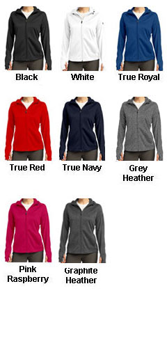 Ladies Tech Fleece Full Zip Hooded Jacket - All Colors