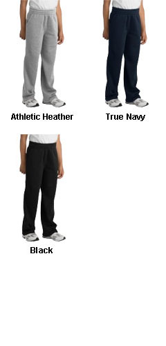 Youth Open Bottom Sweatpant - All Colors