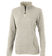Custom Charles River Womens Soft Heathered Fleece Pullover