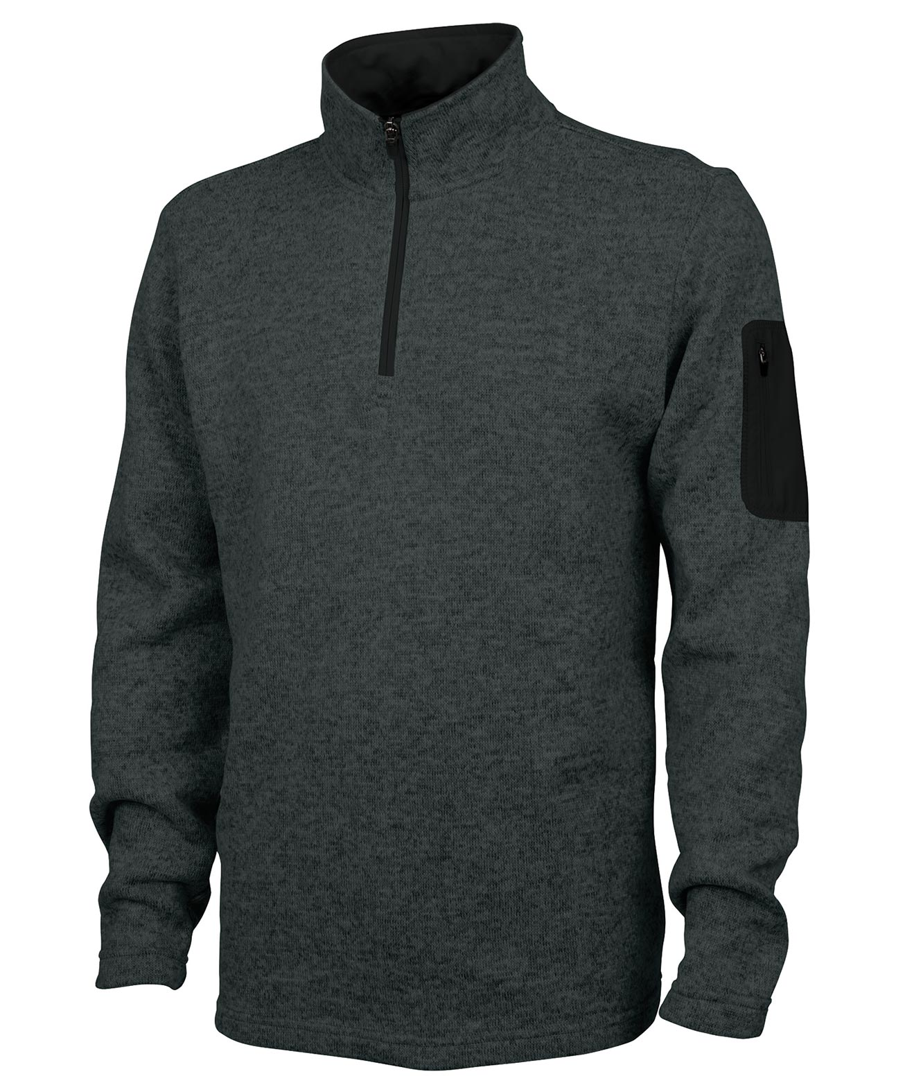 Mens Soft Heathered Fleece Pullover By Charles River Apparel