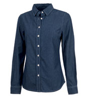 Custom Womens Straight Collar Chambray Shirt by Charles River