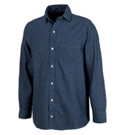 Custom Mens Straight Collar Chambray Shirt by Charles River