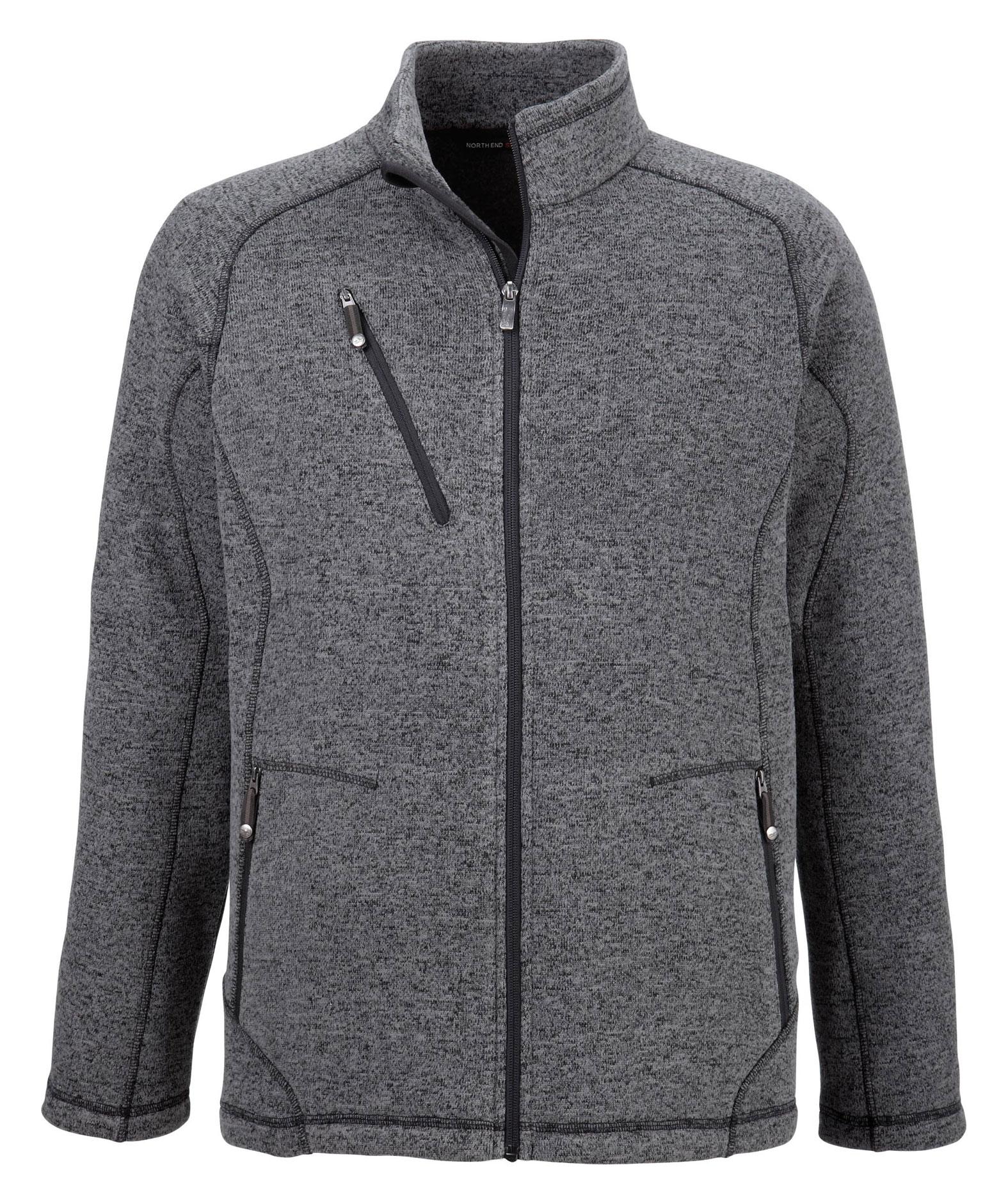 North End Mens Peak Sweater Fleece Jacket