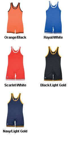 The Collegiate Compression Gear Mens Wrestling Singlet  - All Colors