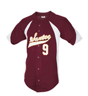 Custom Teamwork Youth Mustang Full Button Baseball Jersey