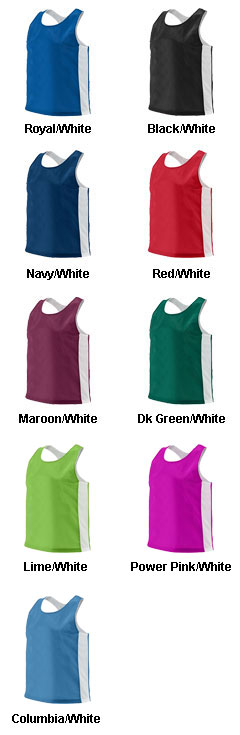 Augusta Ladies Reversible Tricot Mesh Lacrosse Tank - All Colors