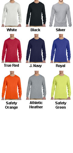 Jerzees Long Sleeve 5.3 oz. Spun Polyester Crewneck T-Shirt - All Colors
