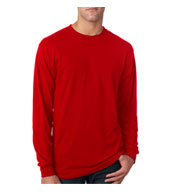 Custom Jerzees Long Sleeve 5.3 oz. Spun Polyester Crewneck T-Shirt