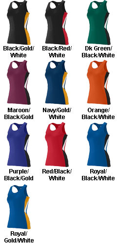 Augusta Ladies Sprint Track Jersey - All Colors