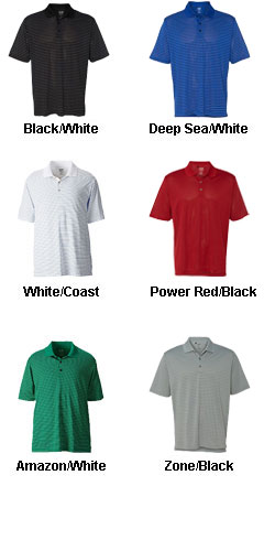 Mens Adidas Golf ClimaLite Pencil Stripe Polo - All Colors