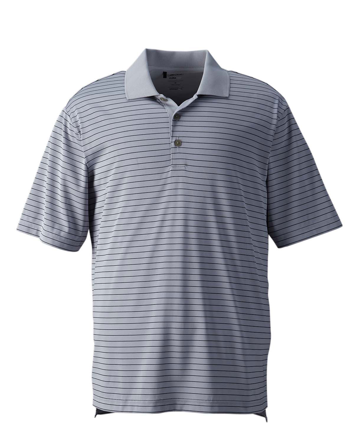 Mens Adidas Golf ClimaLite Pencil Stripe Polo