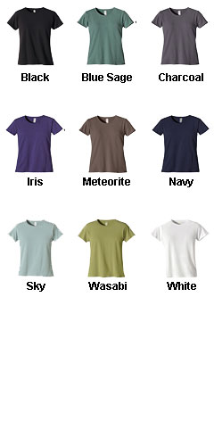 Econscious Ladies 100% Organic Cotton Short-Sleeve T-Shirt - All Colors