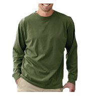 Custom Mens 100% Organic Cotton Classic Long-Sleeve T-Shirt