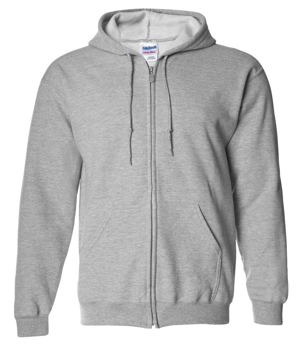 Gildan Heavy Blend Mens Full Zip Hooded Sweatshirt Design Online Or It Blank