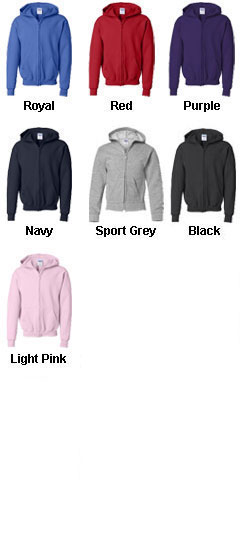 Gildan Heavy Blend Youth Full Zip Hooded Sweatshirt - All Colors