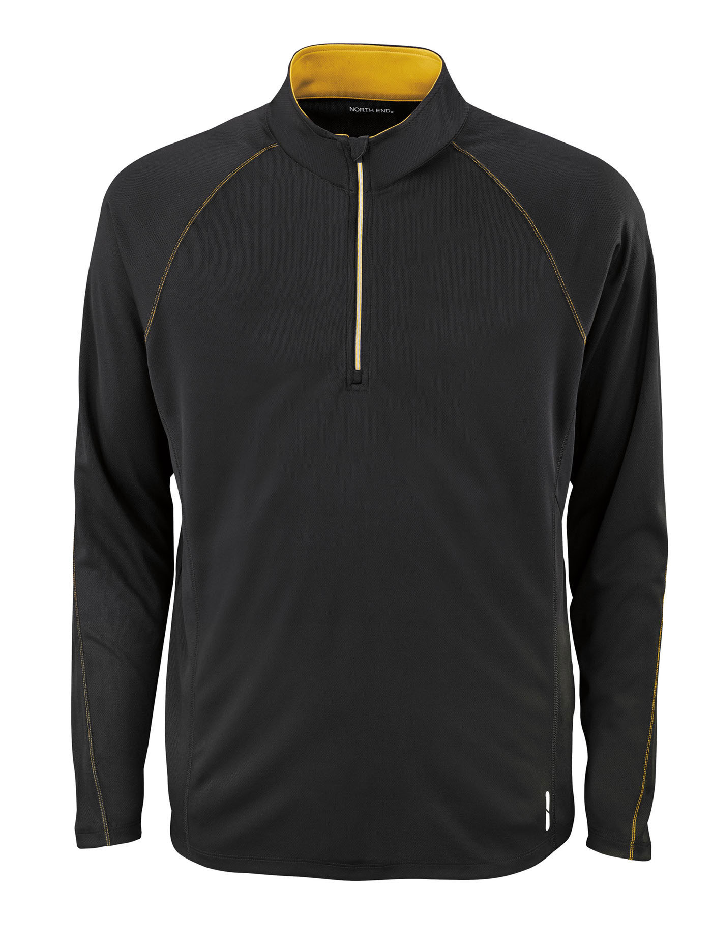 Ash City Mens Half-Zip Performance Long Sleeve Top