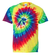 Custom Dyenomite Adult Multi-Color Spiral Tie-Dyed Tee