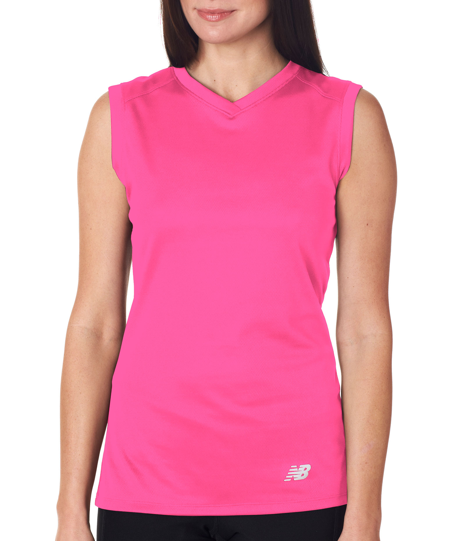 New Balance Ladies Ndurance Athletic V-Neck Workout T-shirt