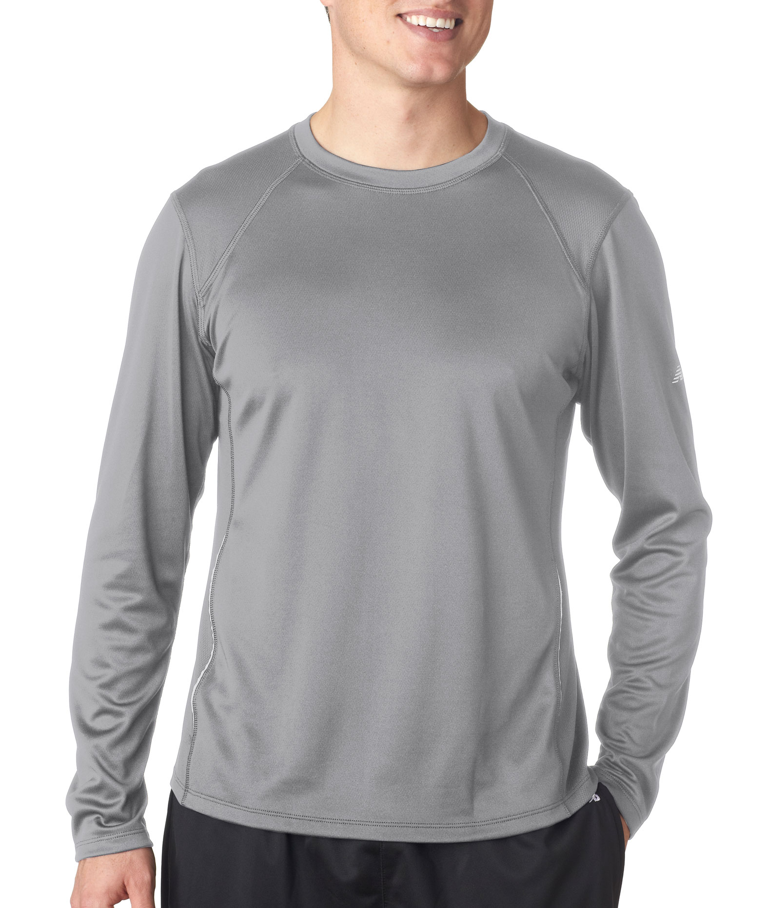 New Balance Mens Tempo Long-Sleeve Performance T-Shirt