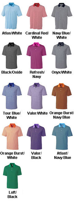 Cutter & Buck Polo CB Drytec Trevor Stripe - All Colors