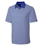 Custom Cutter & Buck Mens Big & Tall CB Drytec Trevor Stripe Polo