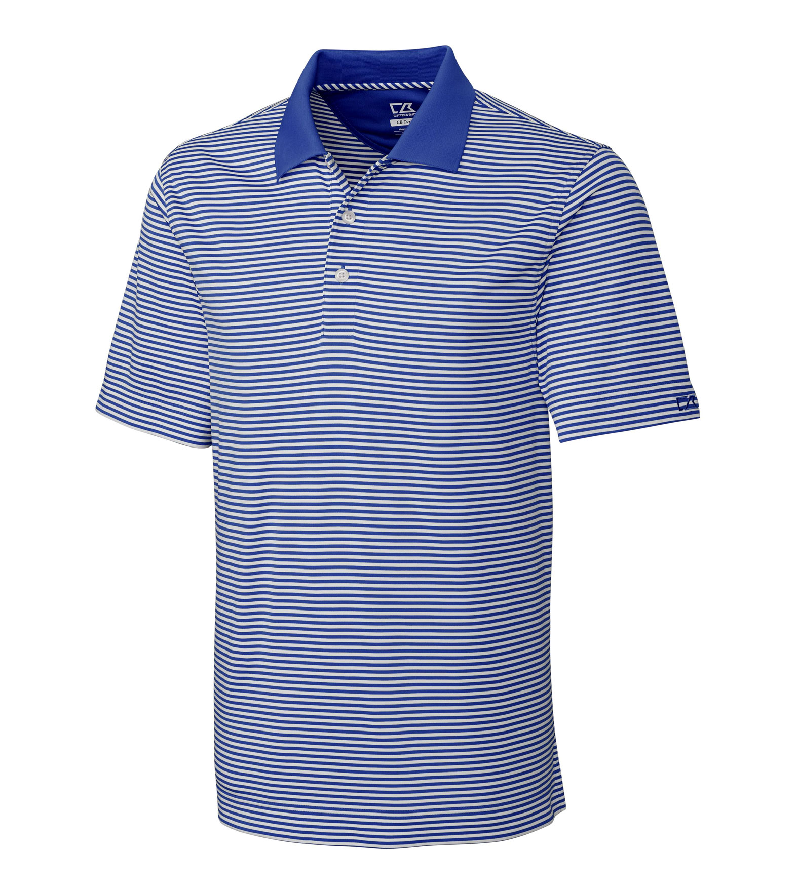 Cutter & Buck Mens Big & Tall CB Drytec Trevor Stripe Polo