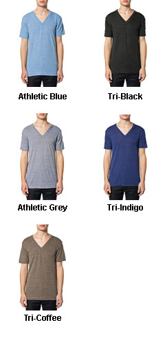 American Apparel Unisex Tri-Blend Short Sleeve V-Neck Tee - All Colors