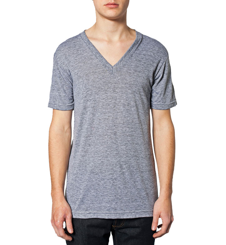 American Apparel Unisex Tri-Blend Short Sleeve V-Neck Tee