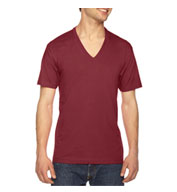 Custom American Apparel Unisex  USA Made Fine Jersey V-Neck Tee
