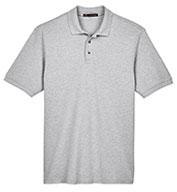 Custom Harriton Men's Ringspun Cotton Pique Short-Sleeve Polo