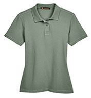 Custom Harriton Ladies' Ringspun Cotton Pique Short-Sleeve Polo