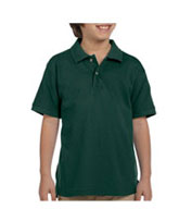 Custom Youth Ringspun Cotton Pique Short-Sleeve Polo