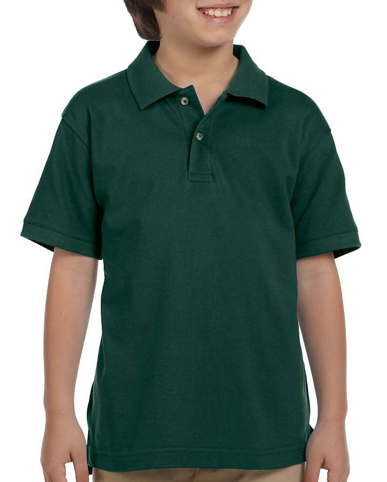 Harriton Youth Ringspun Cotton Pique Short-Sleeve Polo