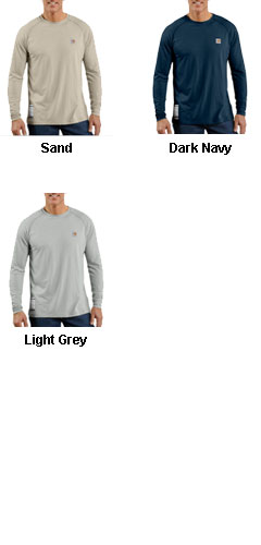 Flame Resistant Work-Dry® Long Sleeve T-shirt by Carhartt - All Colors