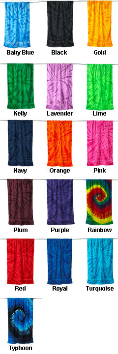 Tie-Dyed Beach Towel  - All Colors