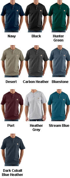 Carhartt Short Sleeve Workwear Henley - All Colors