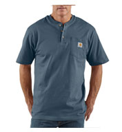 Custom Carhartt Mens Short Sleeve Workwear Henley